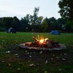 Fire Pit At Little Oak Camping, Nottinghamshire
