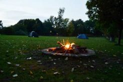 Fire Pit At Little Oak Camping, Nottinghamshire