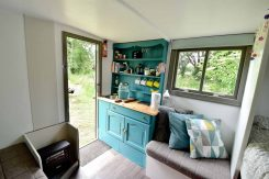 Little Oak Camping- Glamping Caravan Kitchen