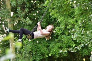 Little Oak Camping-Girl On A Swing