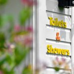 Little Oak Camping- Toilet & Showers Sign