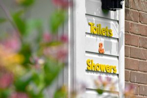 Little Oak Camping- Toilet & Showers Sign